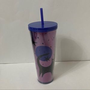 Starbucks Halloween Purple Cat Tumbler